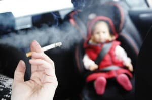 Запрет на курение в автомобилях при детях