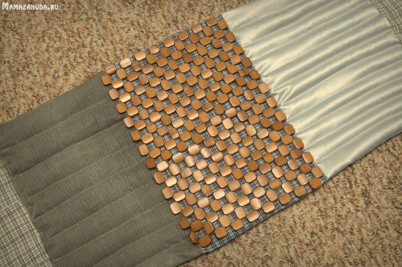 Массажный коврик своими руками из гальки