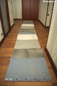 массажный коврик из старых вещей