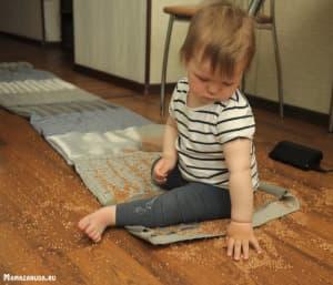массажный коврик с крупами мастерим с малышом
