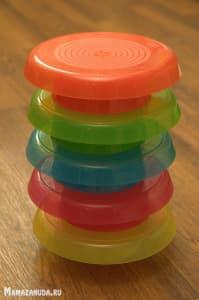 разноцветная посуда ИКЕА КАЛАС